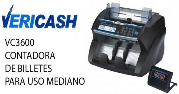 Vericash VC3600, CONTADORA DE BILLETES PARA USO MEDIANO