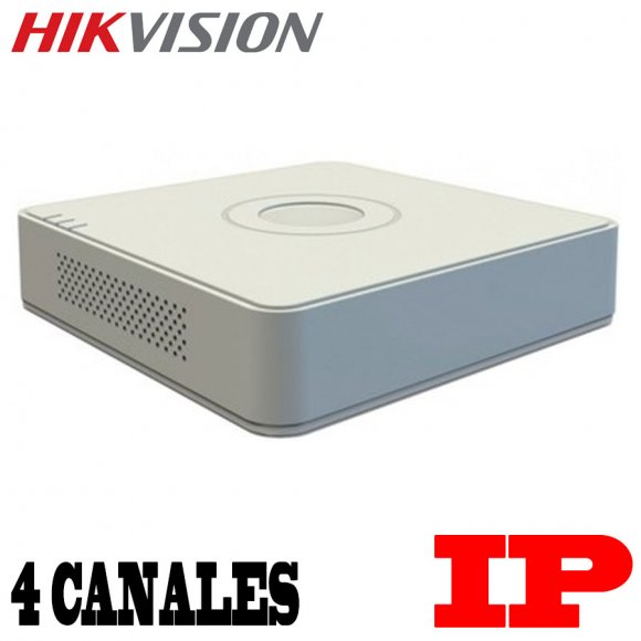 HikVision DS-7104NI-SN/P, GRABADOR IP Gama Economica DE 4 CANALES, 1 ENTR.DE AUDIO BIDIRECCIONAL, 4CH. POE(35W/  AF), 1 HDD MAX 4TB, DECO. 4-CH@720P, 2-CH@1080P, A.DE BANDA: EN.25MBPS/ SA.40MBPS,  1 HDMI, 1 VGA, 1 RJ-45, ONVIF, DC48V