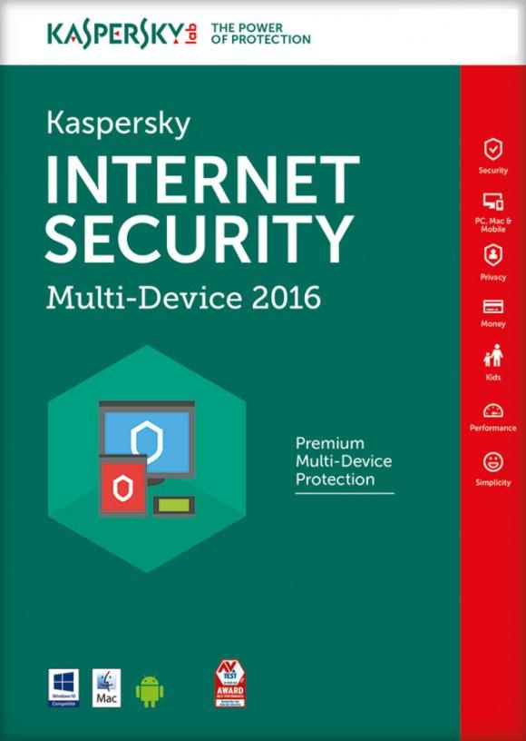 Kaspersky Internet Security 2016 Multidispositivos para 5PCs 1Año