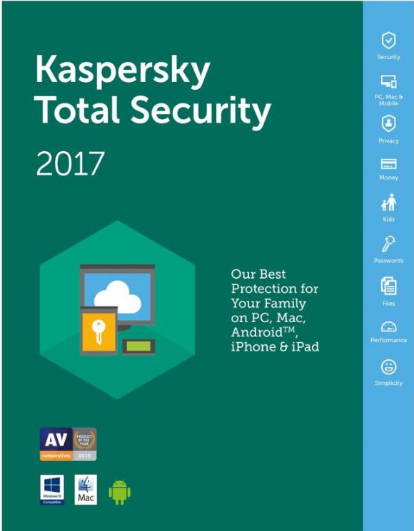 Kaspersky Total Security(antes Pure) para 3Pcs 1Año