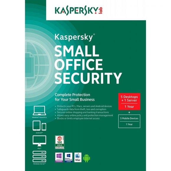 Kaspersky Small Office Security para 5PCs-1Servidor