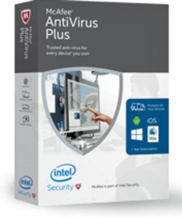 McAffe Antivirus Plus 2016 3PCs 1Año