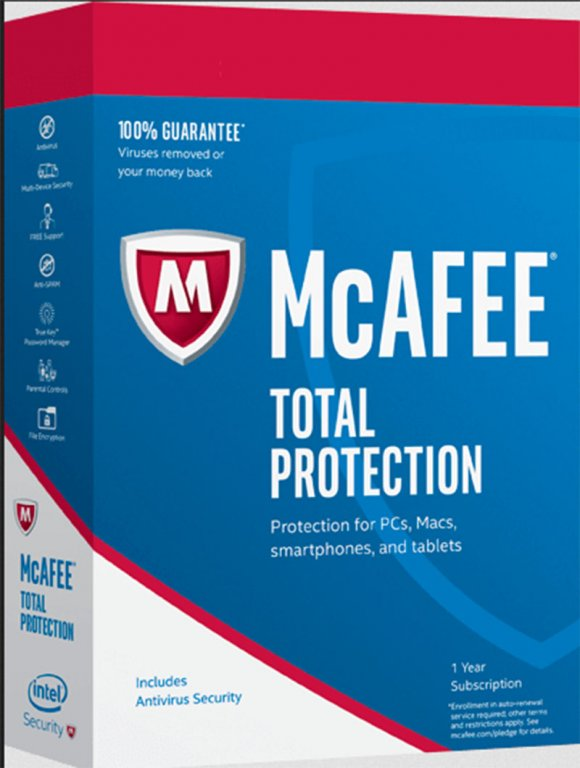 McAffe Total Protection 2016, 3PCs 1Año