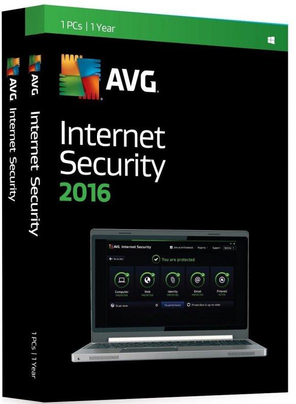 AVG Internet Security 2016, 3PCs, 1Año