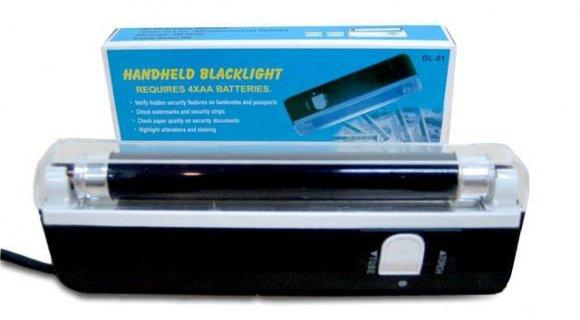 Linterna con Luz UltraVioleta y Blanca, para la detección de Billetes Falsos, Documentos de Identidad, Bancarios, Pasaportes. etc