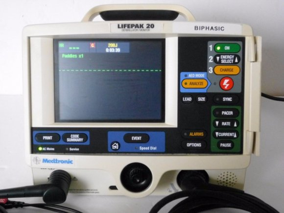 Lifepak 20 desfibrilador Heartstart AED, Manual electrocardiograma (Incluye Impresora Termica Interna para Informes Impresos), terapia de plomo desfibrilador LP20 Monitor Pacer