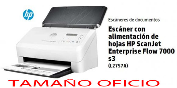 HP ScanJet Enterprise Flow 7000 s3 (L2757A#BGJ), Escaneo veloz y sencillo, incluso sin supervisión, Digitalice documentos enteros a doble cara hasta 150 ipm de una sola pasada en blanco y negro y color. Rendimiento óptimo para flujos de trabajo.