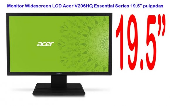 "Acer V206HQ, Monitor Widescreen LCD, Essential Series 19.5"" pulgadas"