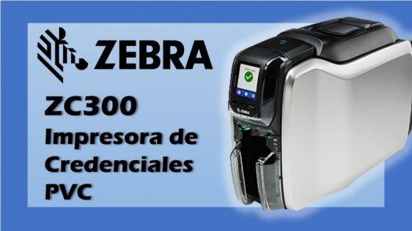 ZEBRA ZC300 (Simple  Cara), Impresora de Tarjetas Profesionales, Nueva generación, Velocidad: 900 tjta mono / 200 tjtacolor YMCKO x hora, Capacidad de incorporar marcas de seguridad en el momento, USB 2.0 y lan 10/100