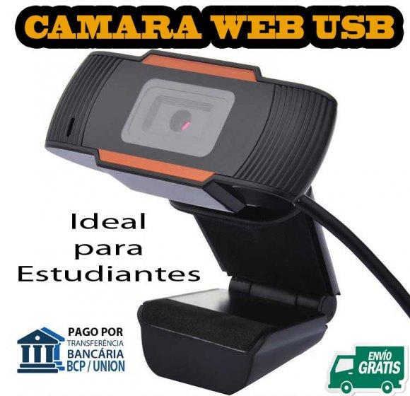 WebCam 12MBpx, Cámara web de 12MBpx, 640x480, USB con Microfono Interno y Sujetador para PC Desktop o Laptop, No Ncesita Drivers de Instalación, es plug and Play , conectar y funcionar.