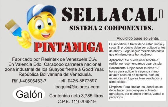 SELLACAL galon