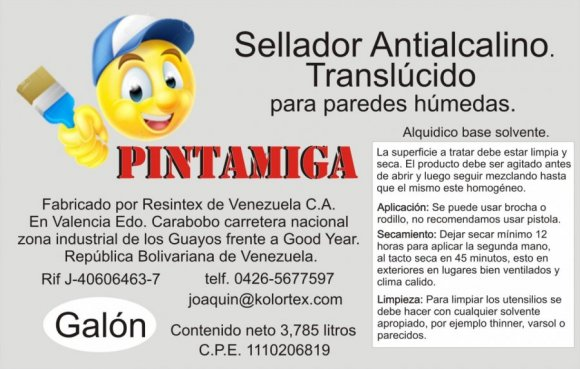 Sellador Antialcalino paredes humedas Galon
