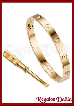 Pulsera A.Quirúrgico LOVE GOLD CZ