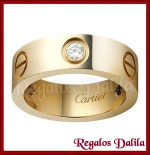 Anillo Acero Quirúrgico GOLD CZ 6MM