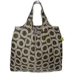 BOLSO REUSABLE CAFE CIRCULOS BLANCOS