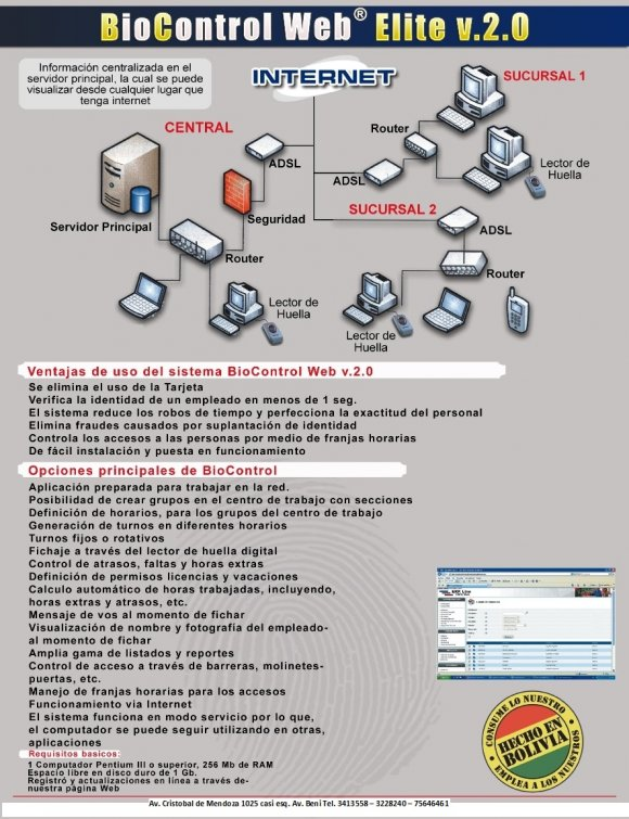 Sistema de Control de Personal BioControl WEB v. 2.0