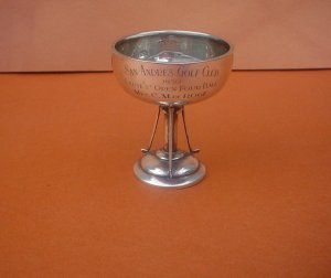 Vintage Golf Trophy Cup Solid Silver San Andres Golf Club 1930 Ladies Sold!
