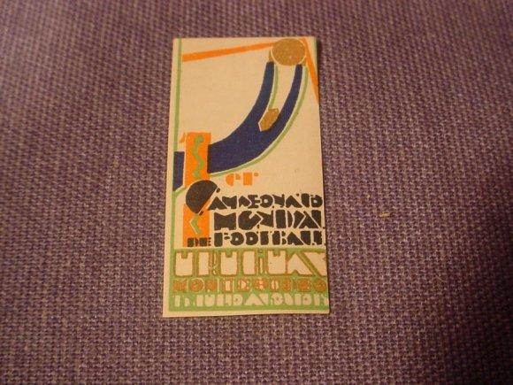 Scarce  Genuine Sticker First World Cup Soccer 1930  Stamp