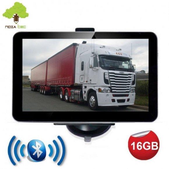 """NozaTec Navegador GPS 7"""" con Bluetooth Pantalla Táctil SpeedCam IGO9 Mapa Europea"""