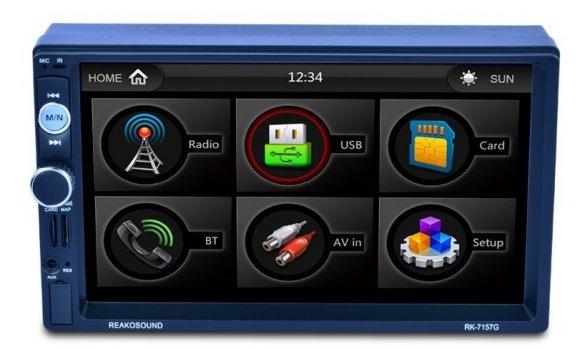 Reproductor MP5 7157G de 7 pulgadas con conector USB trasero Función de carga de soporte y función GPS con cámara